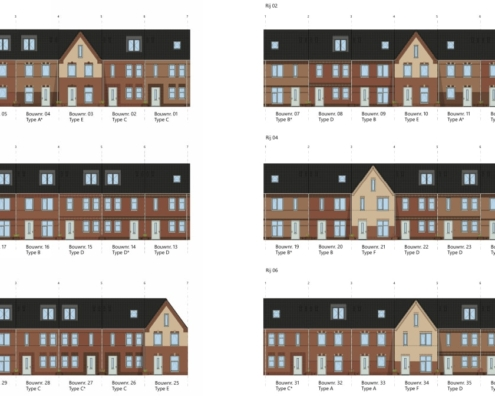 55 woningen en 25 appartementen Molenzicht